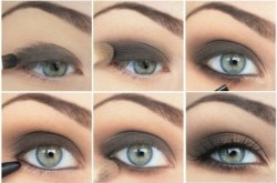 eye shadow on hoe to do simple party makeup at home?